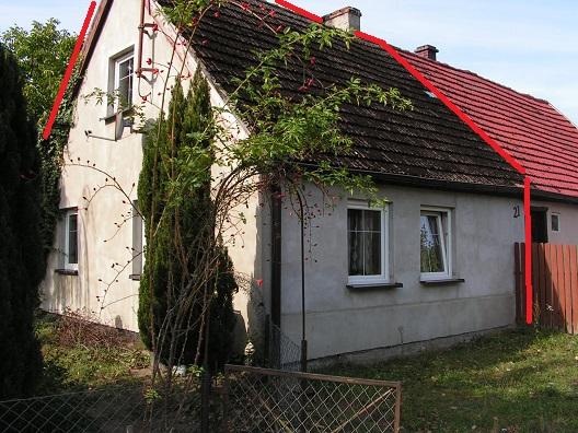 sprzedaż | dom połowa bliźniaka z dużą stodołą| Więcław 12 km od Świdwina