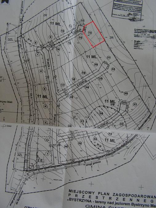 sprzedaż | działka pod budowę nad jeziorem  | Bystrzyna  5 km od Świdwina